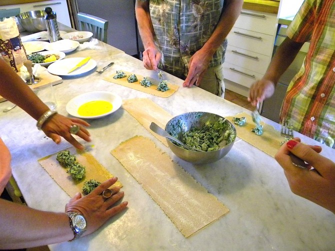 cooking course italy ravioli