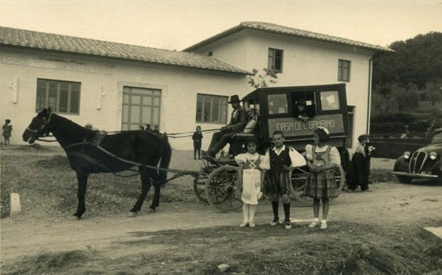 Schuldkinder Toskana alte Zeiten