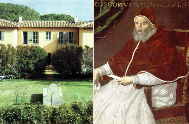 Grégoire XIII a laissé une empreinte durable sur Il Fontanile...