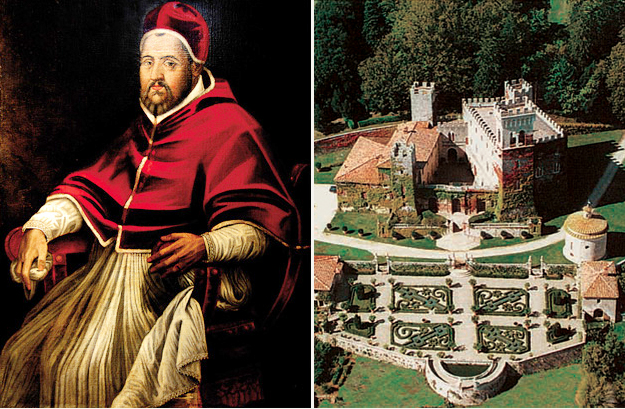 The soul of Clement VIII still hovers over the Castello di Celsa...
