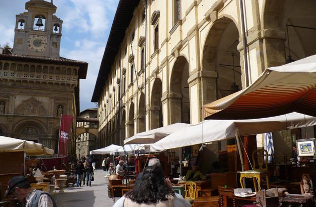 Arezzo grand passage couvert Logge Vasari.