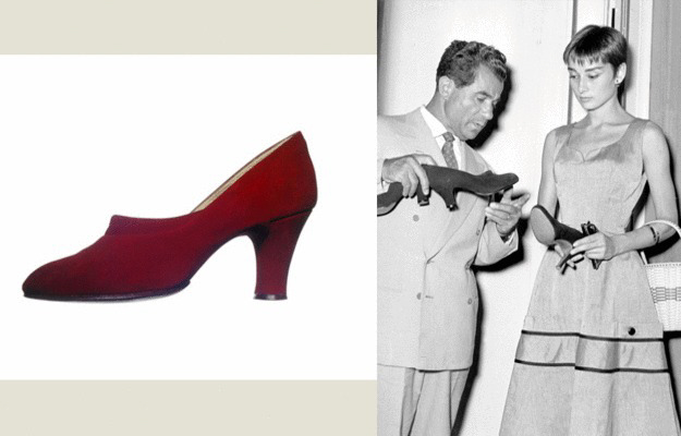 Audrey Hepburn and Ferragamo 1954
