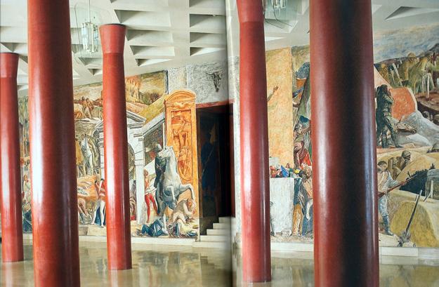 L'antichambre de la fameuse Aula Magna de l'Université de Padoue.