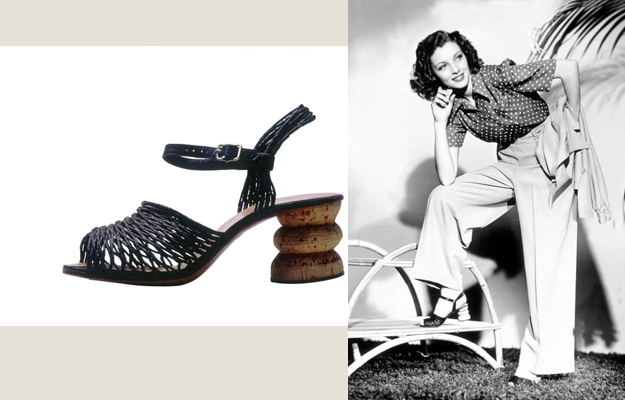 Loretta Young and Ferragamo 40ies