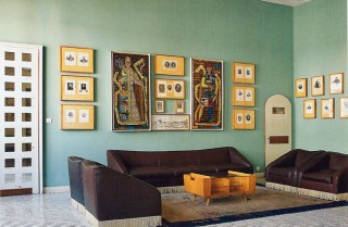 Im Lesesaal der Professoren. Der Fußboden ist eine wunderbare Terazzo-Arbeit.