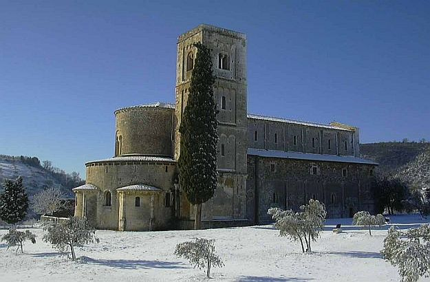 Sant'Antimo im Winter