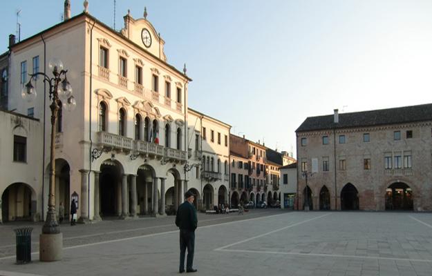 Main square of Este near Padua