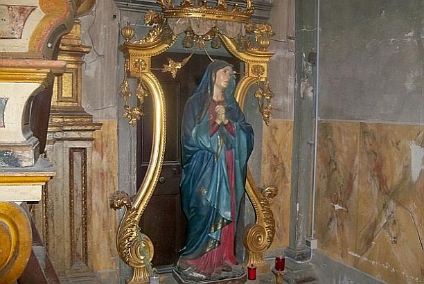 A sculpted madonna
