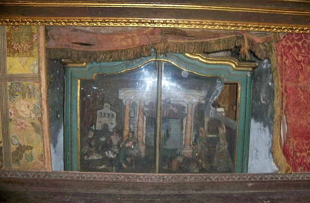 Nativity below the altar