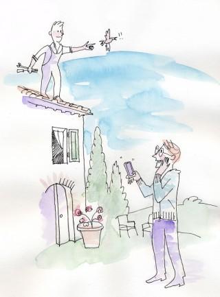 villa in tuscany with internet illustration