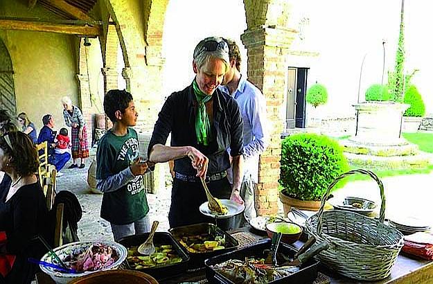 Viticultrice Charlotte Horton au Castello di Potentino