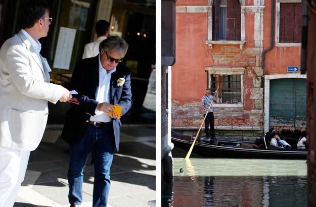 Venise et les gondoles