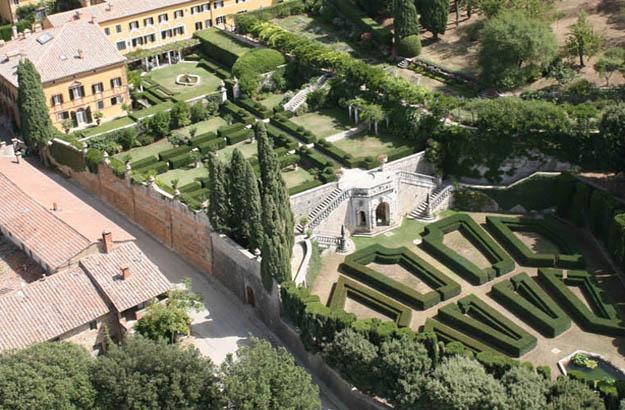 La Foce seen from above