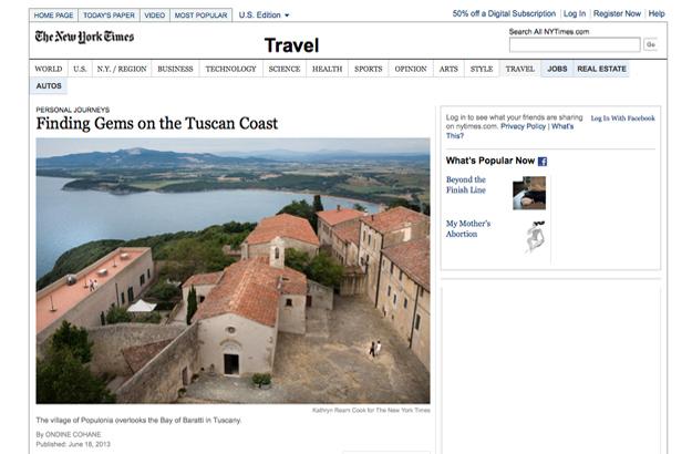 New York Times Toscane