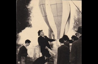 One thing that takes all the attention: Francesca Papafava's grandfather supervised the filling of the balloon.