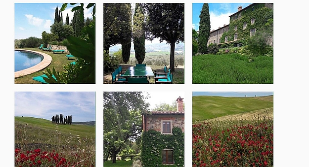 Come springtime, La Foce opens out its blossoming arms for you.