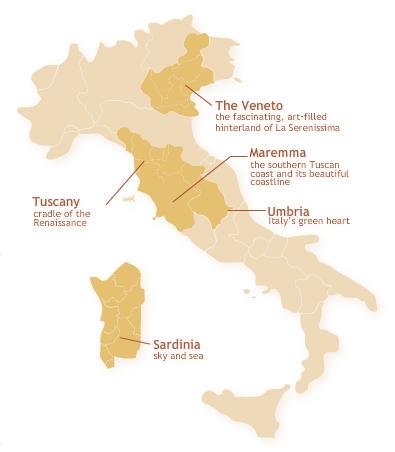 Map Of Italy Tuscany Region.Discover Italy Tuscany Maremma Venetia Umbria Sardinia Sicily