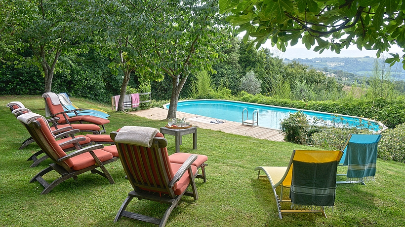 luxus ferienhaus mit privatem pool in der toskana bei san gimignano. Black Bedroom Furniture Sets. Home Design Ideas