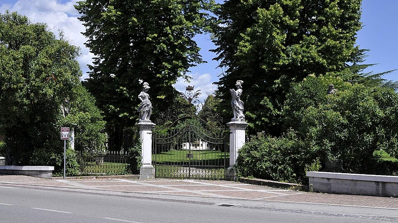 The main gate of Villa Brandolini Rota in Venetia, north Italy