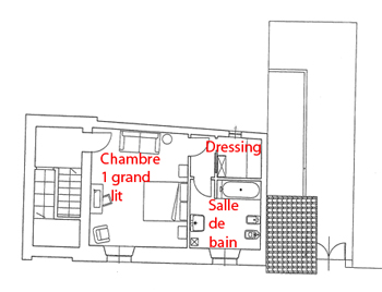 Plan chambre dressing gallery of suite parentale chambre for Plan chambre dressing salle de bain