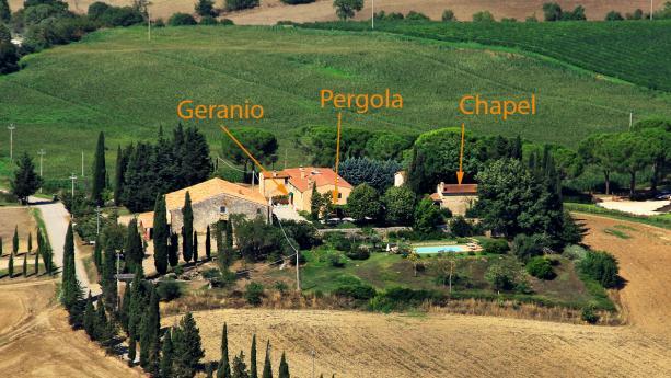 The main entrance of Villa Cavallini