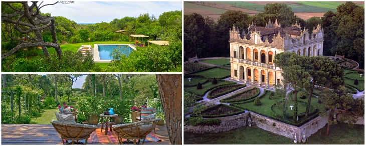 Grand Italian castles and designer villas