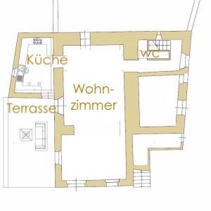 Nebengebäude Erdgeschoss