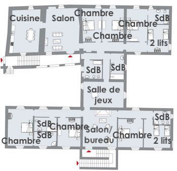 Maison principale 1er étage